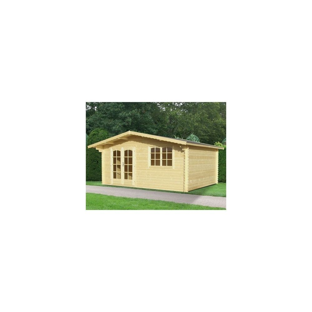 Abri de jardin ontario 17 3 m bois massif 34 mm pefc for Abri de jardin 34mm