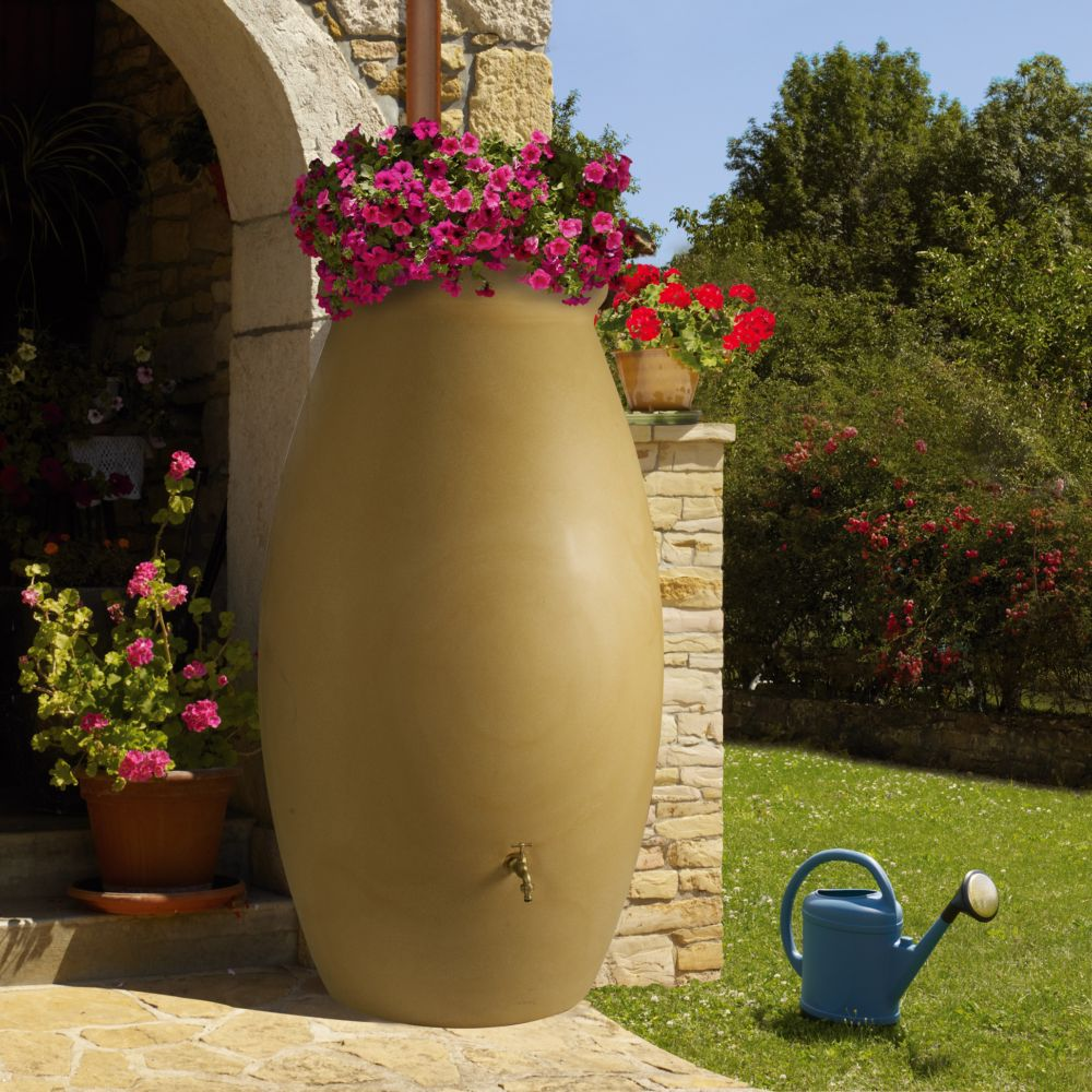 r cup rateur d 39 eau beige en jarre 1000 litres bellijardin plantes et jardins. Black Bedroom Furniture Sets. Home Design Ideas