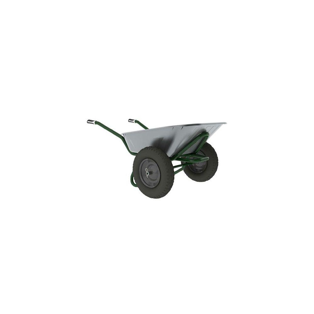 Brouette 2 roues avec caisse galvanisée - ROBUST Twin 90 litres ...