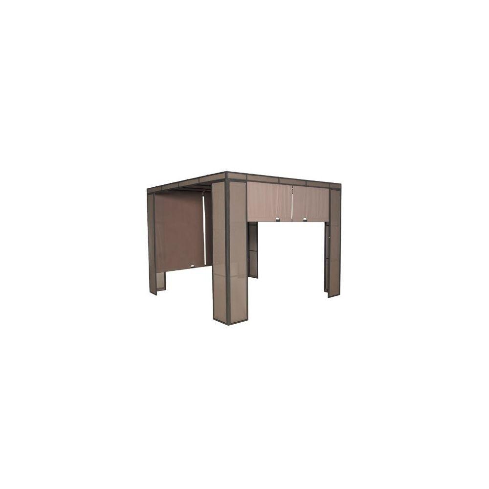 tonnelle 3x3 m design moderne coloris taupe plantes et. Black Bedroom Furniture Sets. Home Design Ideas