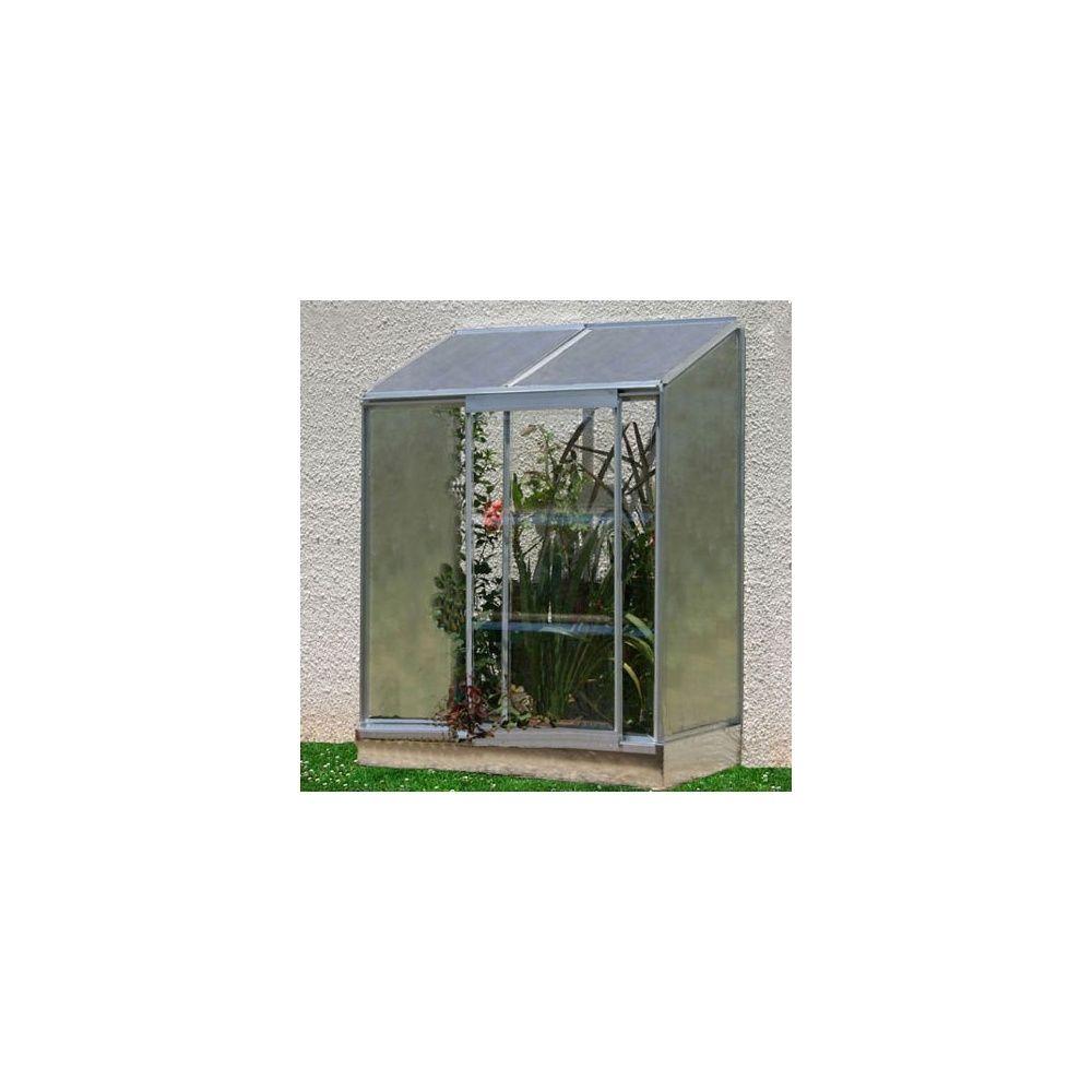 Serre de balcon adoss e en polycarbonate lams plantes et for Serre de jardin adossee polycarbonate