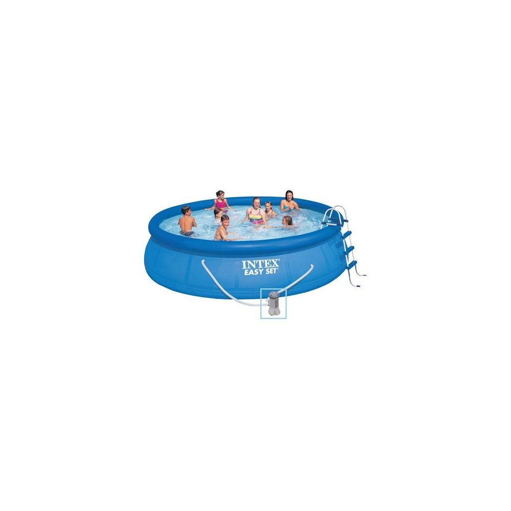 Kit piscine autoportante easy set intex d 4 88 m x h 1 for Piscine intex 5 m
