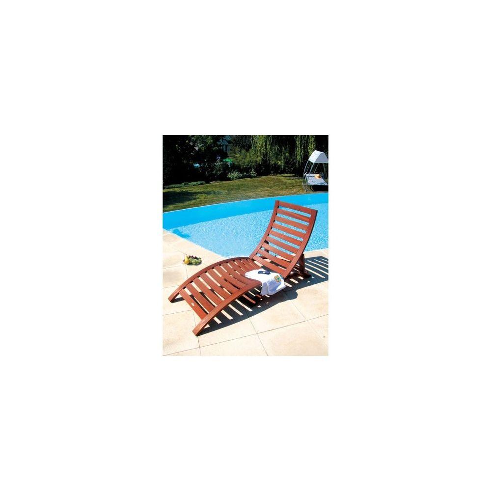 Bain de soleil multiposition en bois balau plantes et jardins - Bain de soleil multiposition ...