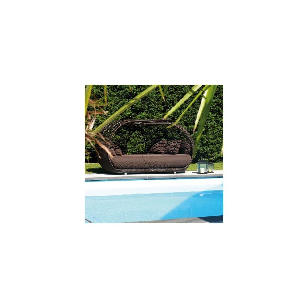 lit de soleil nid en aluminium et osier polypro tress plantes et jardins. Black Bedroom Furniture Sets. Home Design Ideas