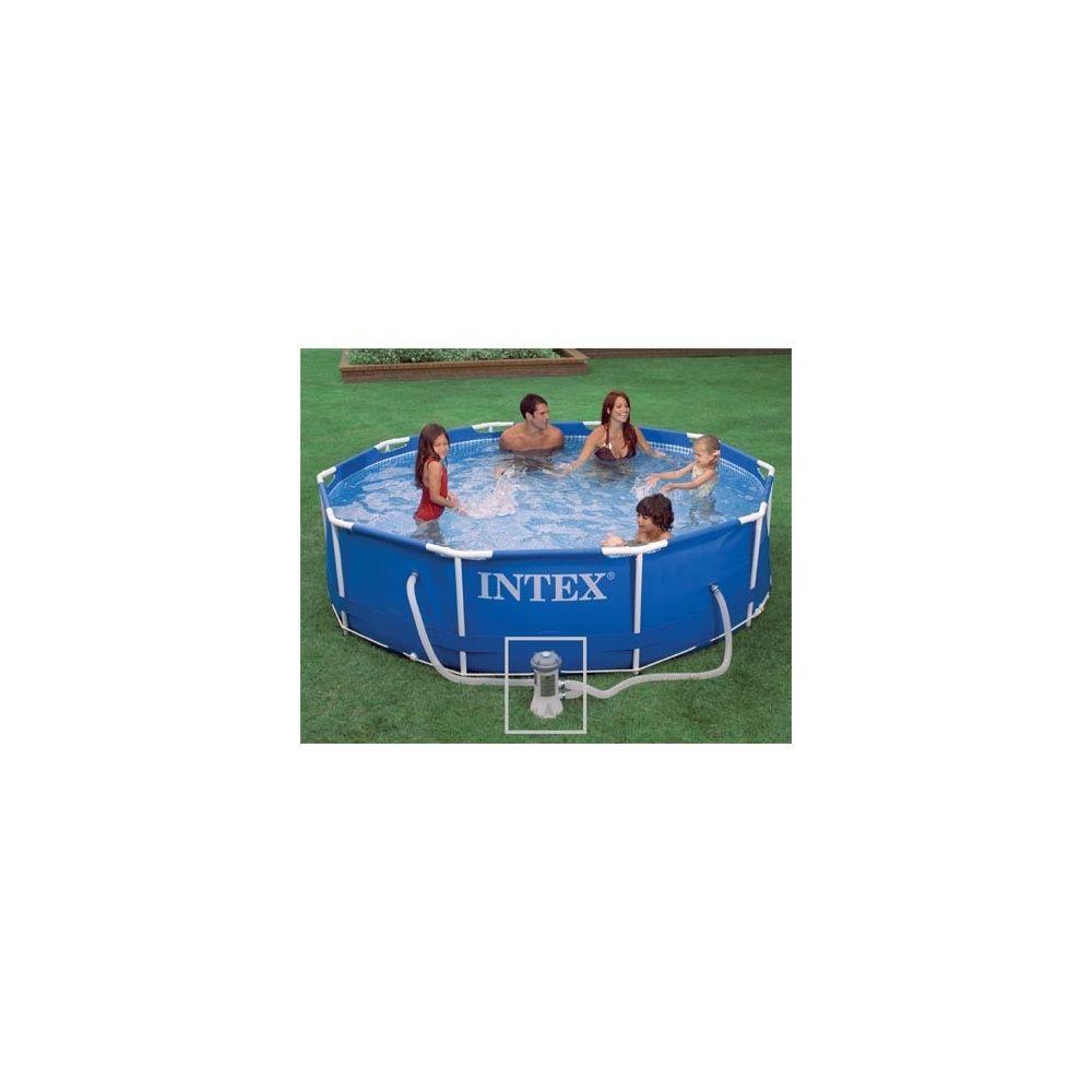 kit piscine tubulaire metal frame intex d m x h 0. Black Bedroom Furniture Sets. Home Design Ideas
