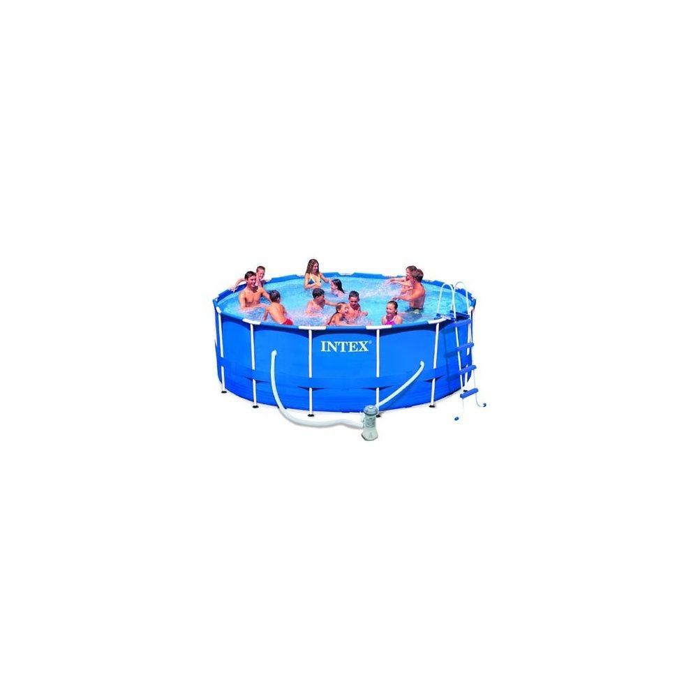 Kit piscine tubulaire metal frame intex d m x for Piscine tubulaire intex 4 57 x 1 22m
