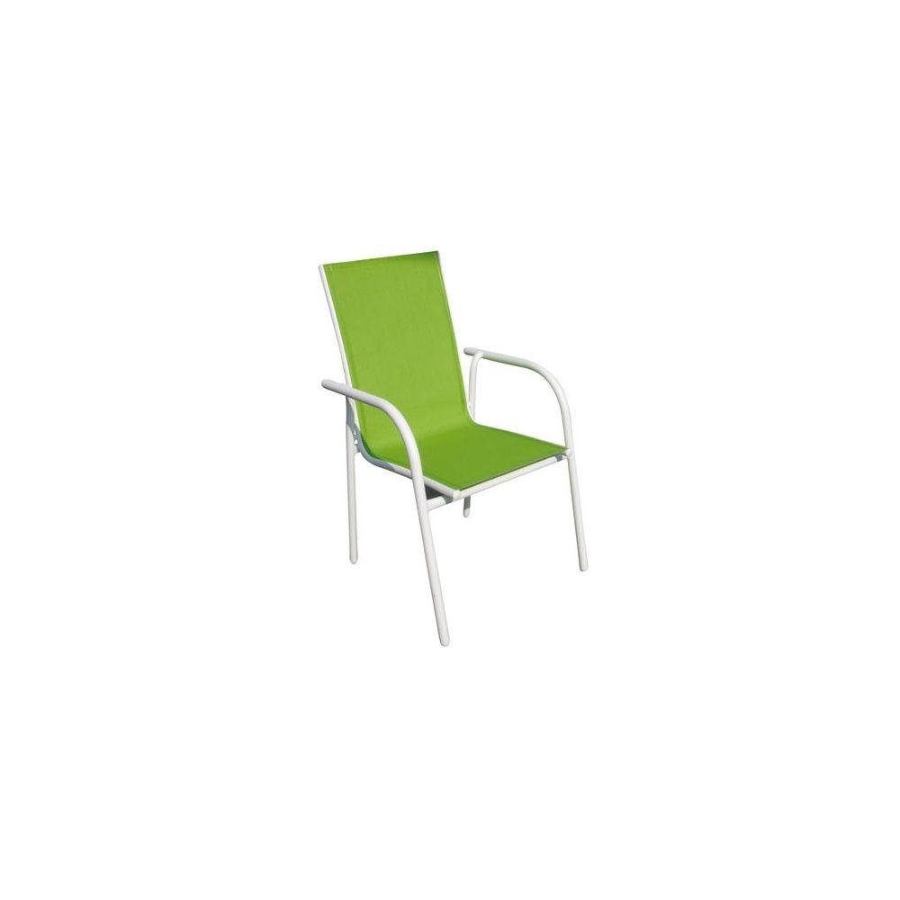 fauteuil en aluminium et textil ne vert anis plantes et jardins. Black Bedroom Furniture Sets. Home Design Ideas