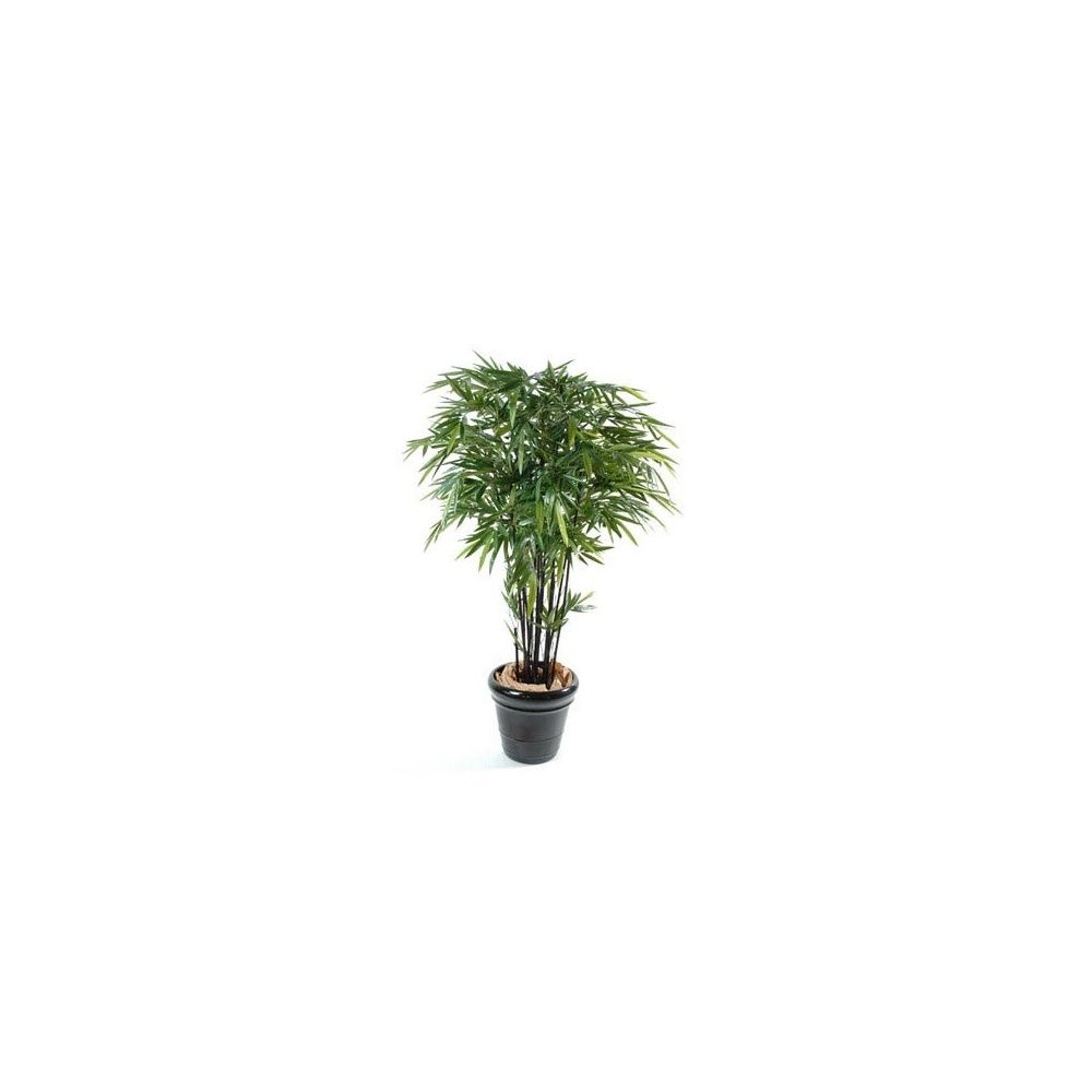 bambou cannes noires h180cm tronc naturel feuillage artificiel pot classique plantes et. Black Bedroom Furniture Sets. Home Design Ideas