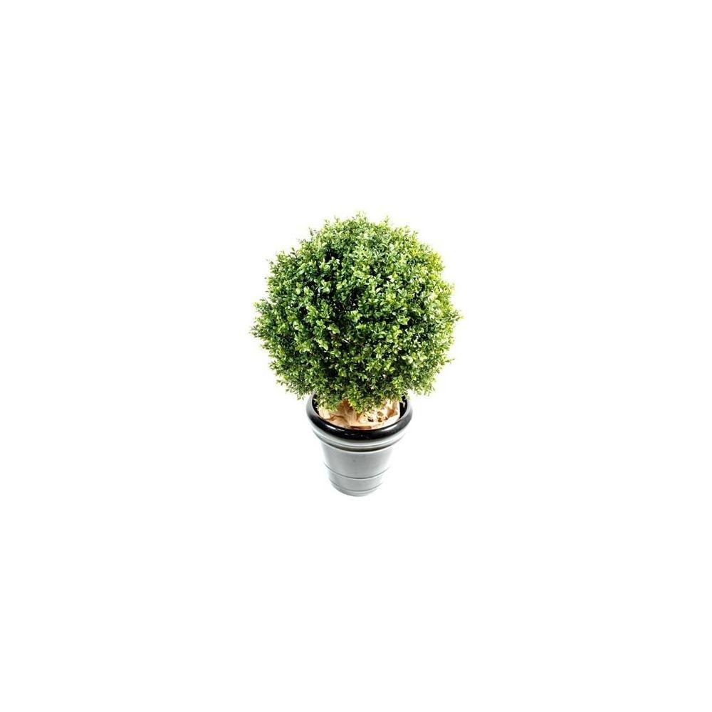buis boule 30cm tronc naturel feuillage artificiel pot classique plantes et jardins. Black Bedroom Furniture Sets. Home Design Ideas