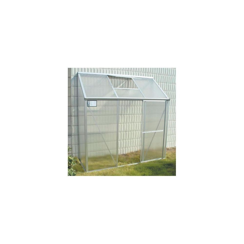 Serre de balcon adoss e en polycarbonate 1 26m plantes for Serre de jardin adossee polycarbonate