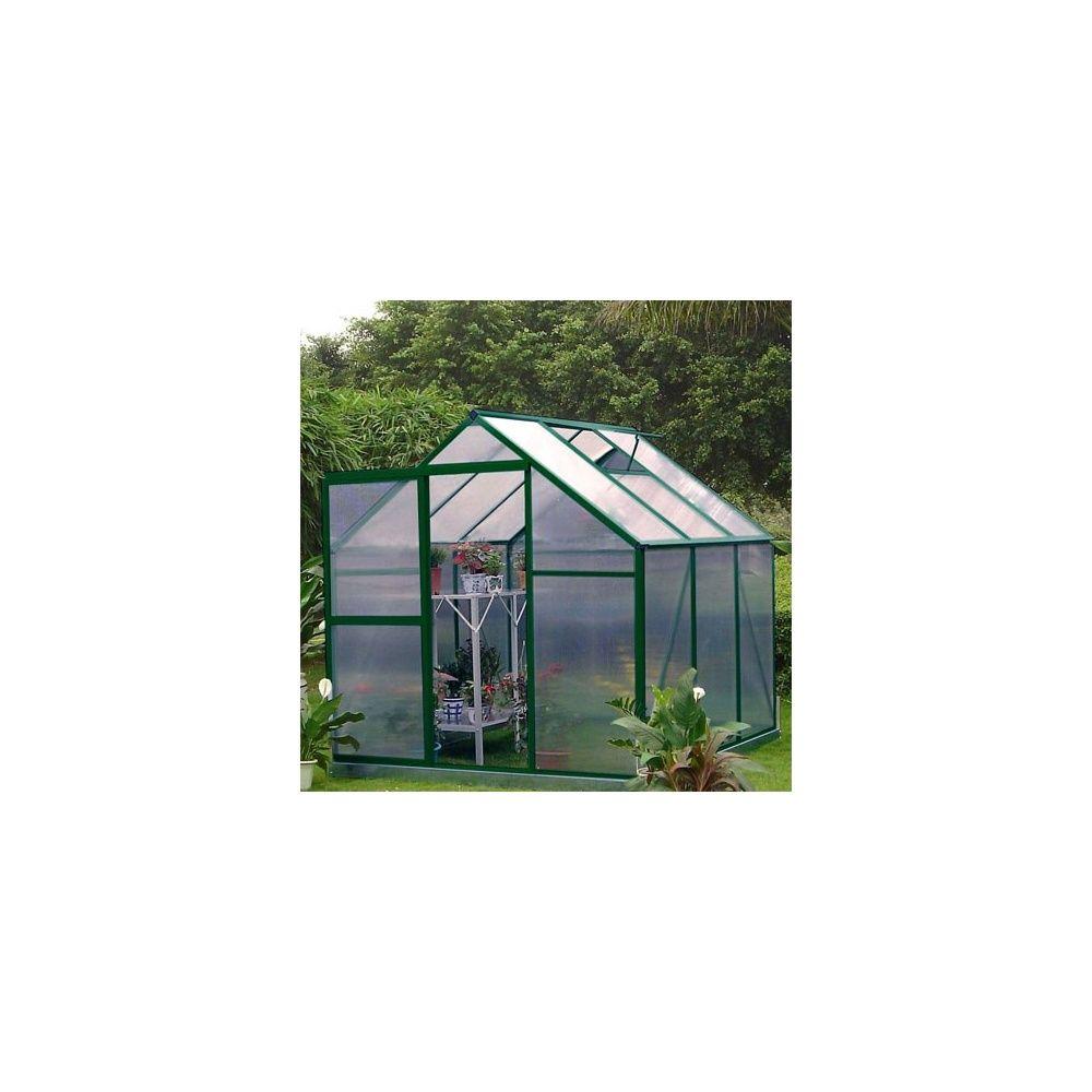 Serre de jardin 5 06m lilas en polycarbonate lams - Serre en polycarbonate ...