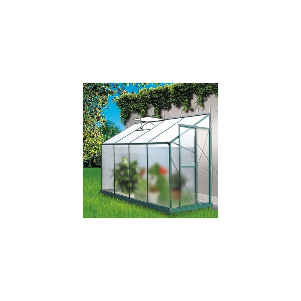 Serre de jardin adoss e 3 71m lis en polycarbonate lams for Serre de jardin adossee polycarbonate