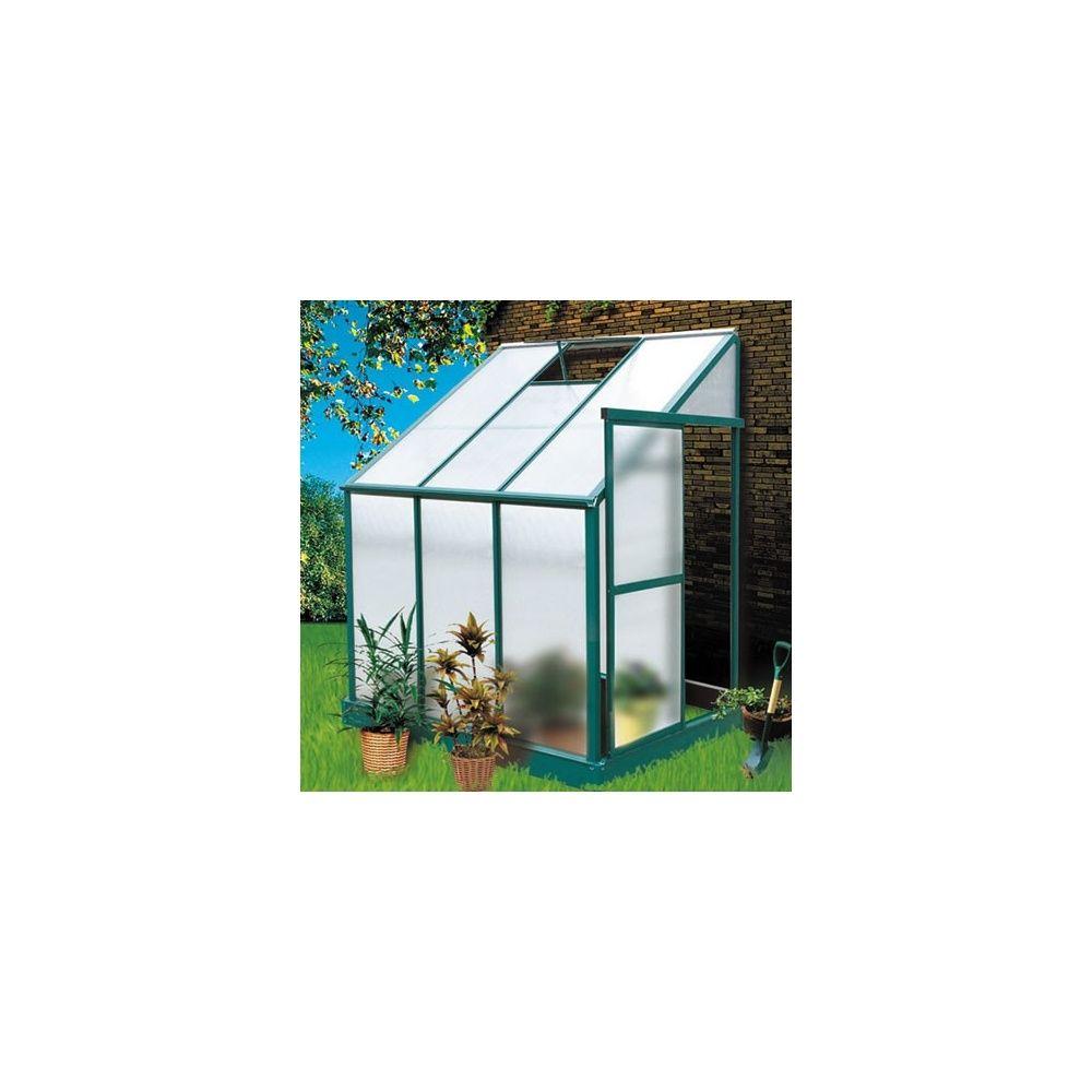 Serre de jardin adoss e 2 97m iris en polycarbonate for Serre de jardin adossee polycarbonate