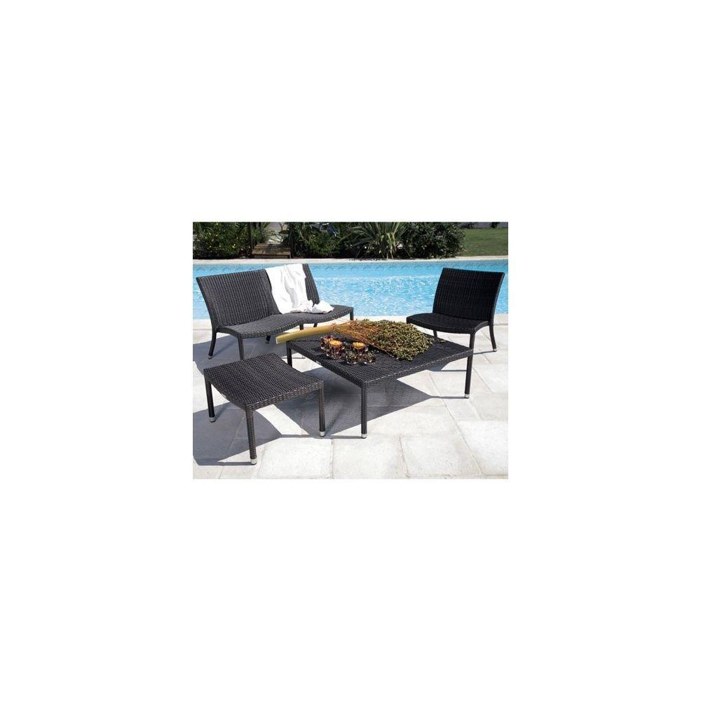 salon de jardin irving en r sine tress e et ch ssis en aluminium plantes et jardins. Black Bedroom Furniture Sets. Home Design Ideas