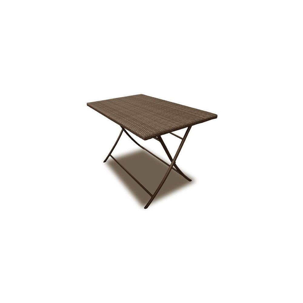 table pliante rico en r sine tress e 160 x 90 cm m tis. Black Bedroom Furniture Sets. Home Design Ideas