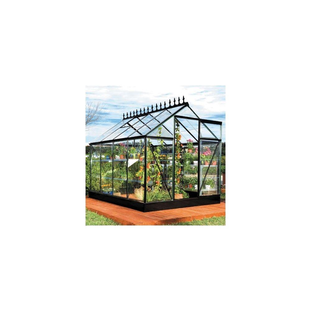 serre victorienne 5m noire en polycarbonate transparent et embase plantes et jardins. Black Bedroom Furniture Sets. Home Design Ideas