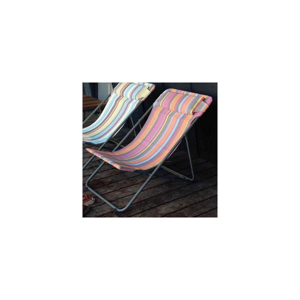 Chaise lafuma pliante chaise longue lafuma solde transat for Chaise longue toile pliante