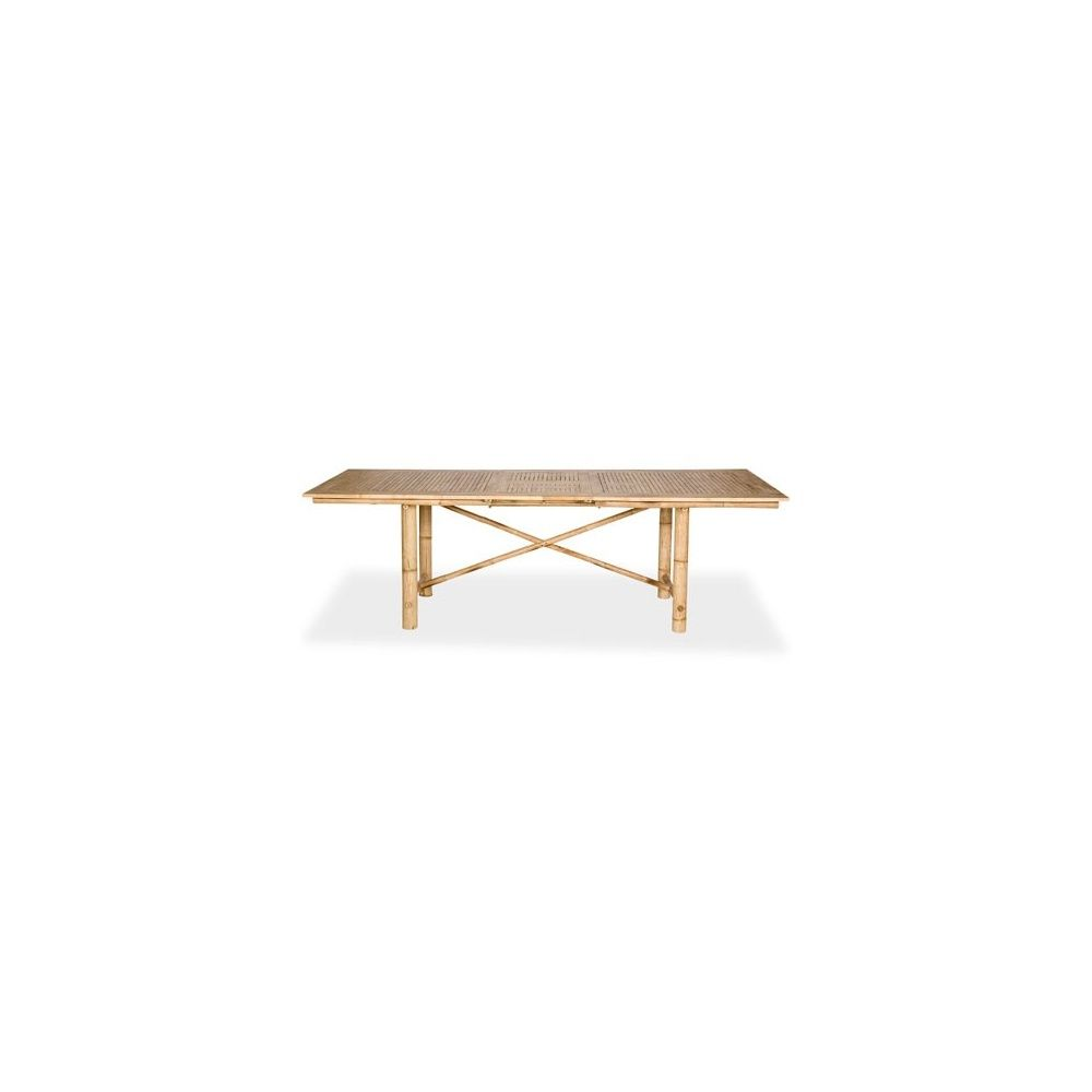 Table rectangulaire extensible halong en bambou 190 240 x for Table extensible 240 cm