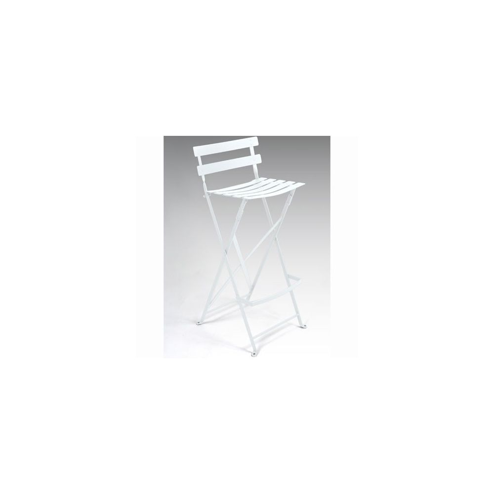 tabouret haut pliant bistro en m tal blanc fermob plantes et jardins. Black Bedroom Furniture Sets. Home Design Ideas