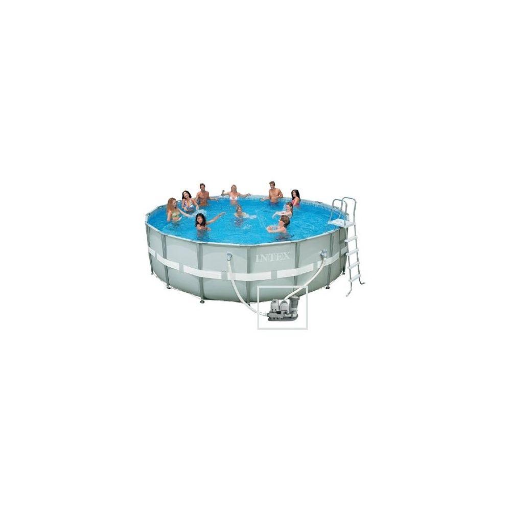 Kit piscine tubulaire ronde ultra frame d 5 49 m x h 1 32 for Piscine intex ultra frame 5 49x1 32