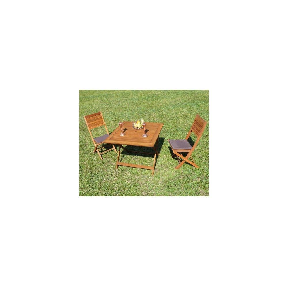 salon de jardin en eucalyptus fsc 1 table 2 chaises pliantes dream garden plantes et jardins. Black Bedroom Furniture Sets. Home Design Ideas