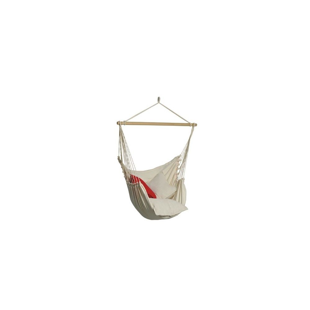 hamac fauteuil suspendu organic amazonas coloris blanc plantes et jardins. Black Bedroom Furniture Sets. Home Design Ideas