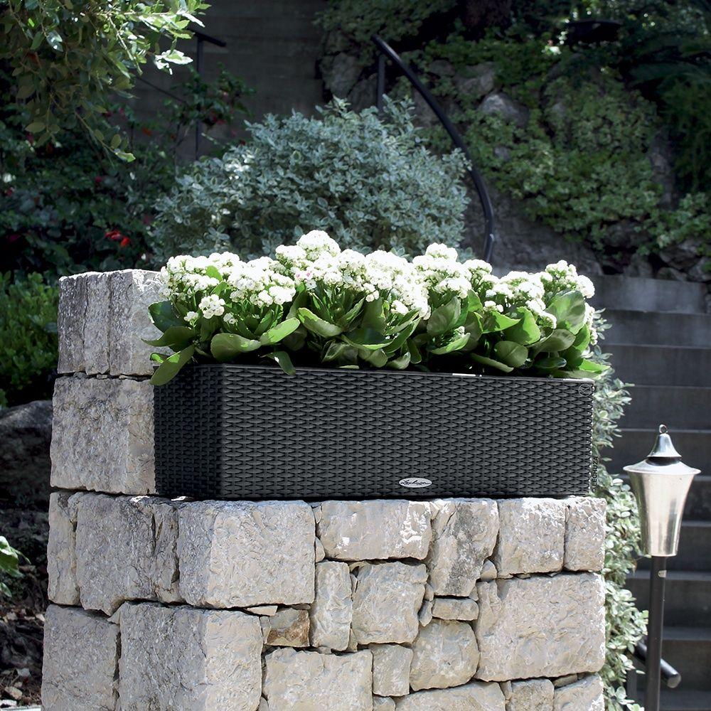 Jardini re lechuza balconera cottage l80 h19 cm granit for Jardiniere etroite et haute