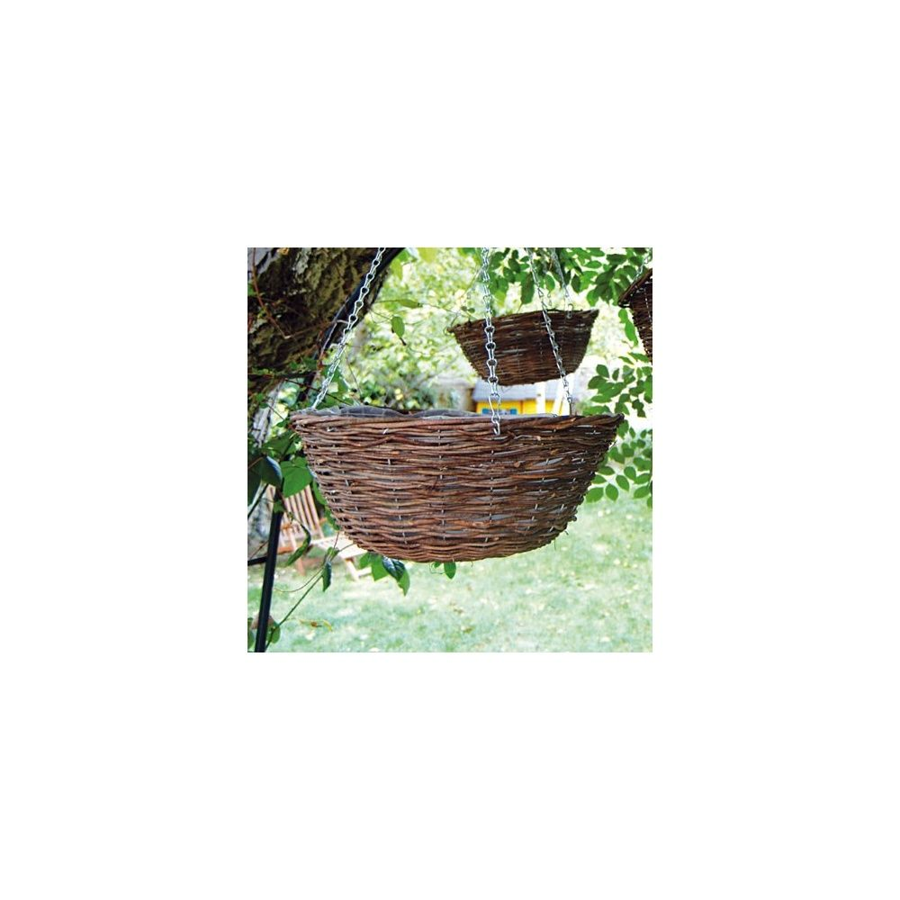 corbeille en osier naturel suspendre d35cm plantes et. Black Bedroom Furniture Sets. Home Design Ideas