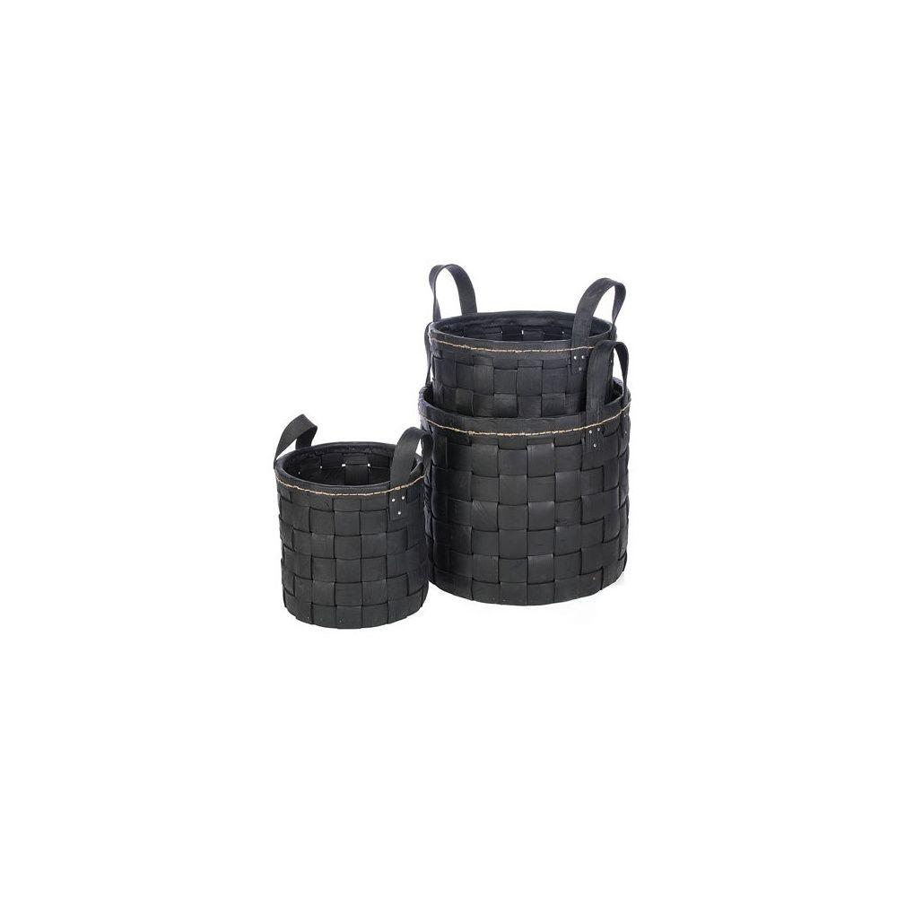 cache pot en caoutchouc tress et surpiqu d40cm. Black Bedroom Furniture Sets. Home Design Ideas