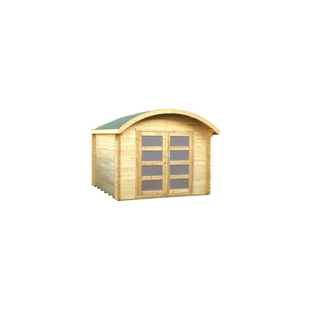 abri de jardin bois 28 mm pefc toit rond t6 plantes et jardins. Black Bedroom Furniture Sets. Home Design Ideas