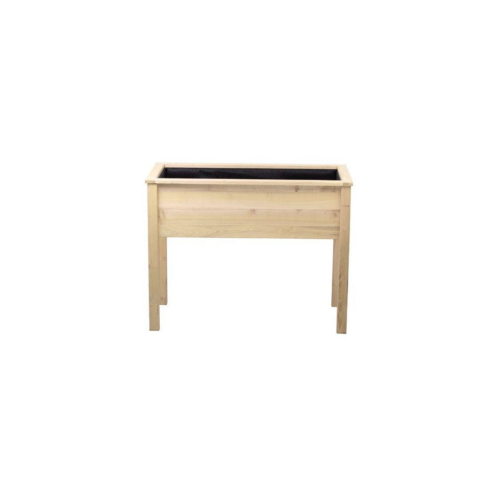 bac potager de balcon en acacia 111x56x85 cm cyprus. Black Bedroom Furniture Sets. Home Design Ideas