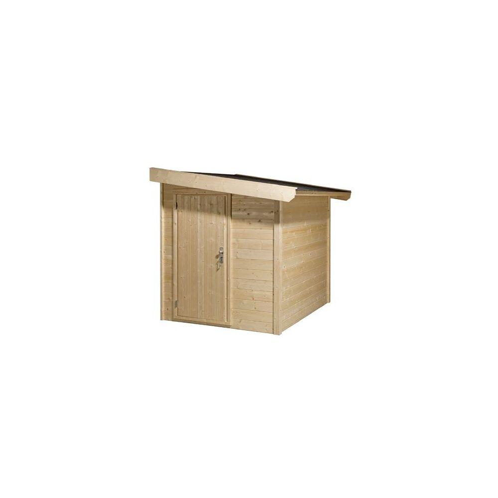 abri de jardin monopente adossable el gance bois. Black Bedroom Furniture Sets. Home Design Ideas