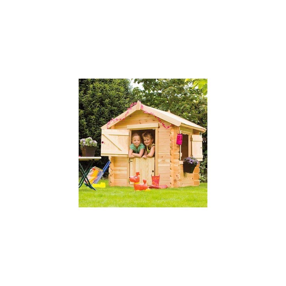 Maisonnette bois pour enfant little park bear county plantes et jardins - Maisonnette pour enfant ...