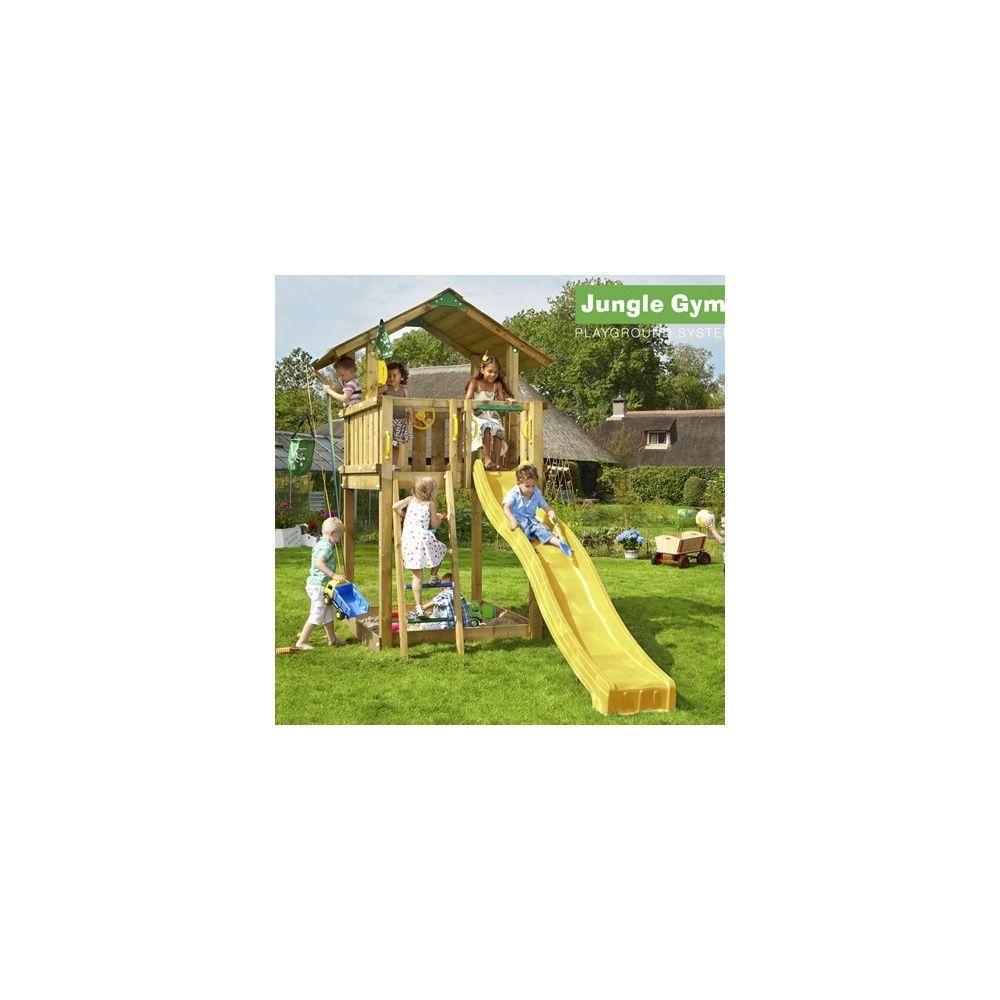Tour de jeux bois pour enfant Jungle Gym Chalet Avec toboggan Plantes et Jardins # Jeux En Bois Pour Enfant