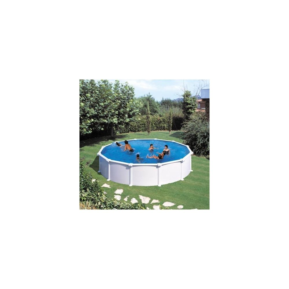 Kit piscine acier san marina 550 x h 120cm gr for Piscine kit acier