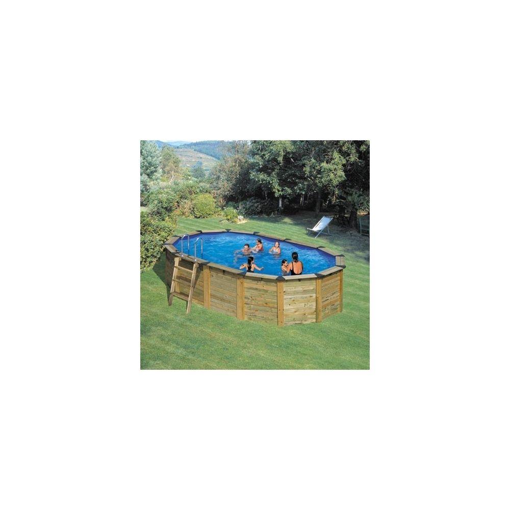 Kit piscine acier et habillage bois san marina nature for Piscine acier couleur bois