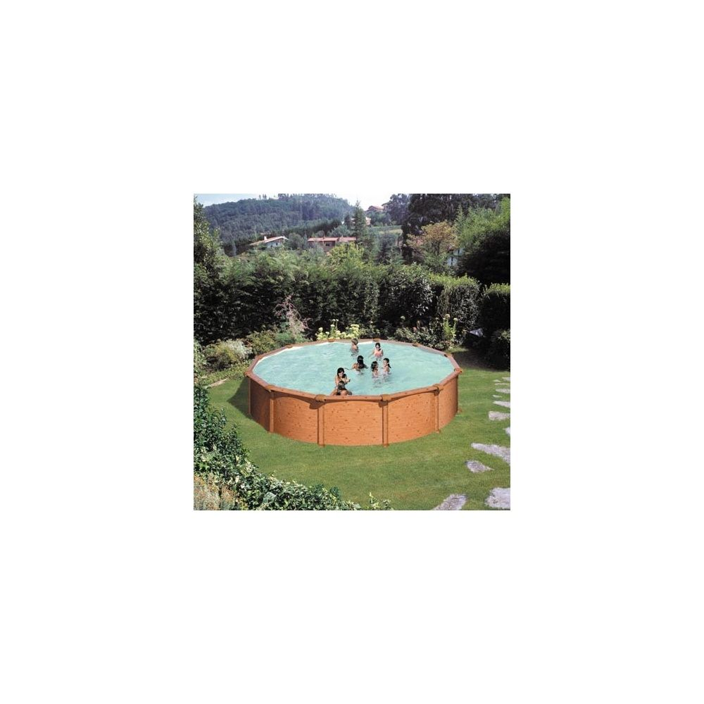 Kit Piscine Dream Pool Acier Aspect Bois 550 X H 132cm