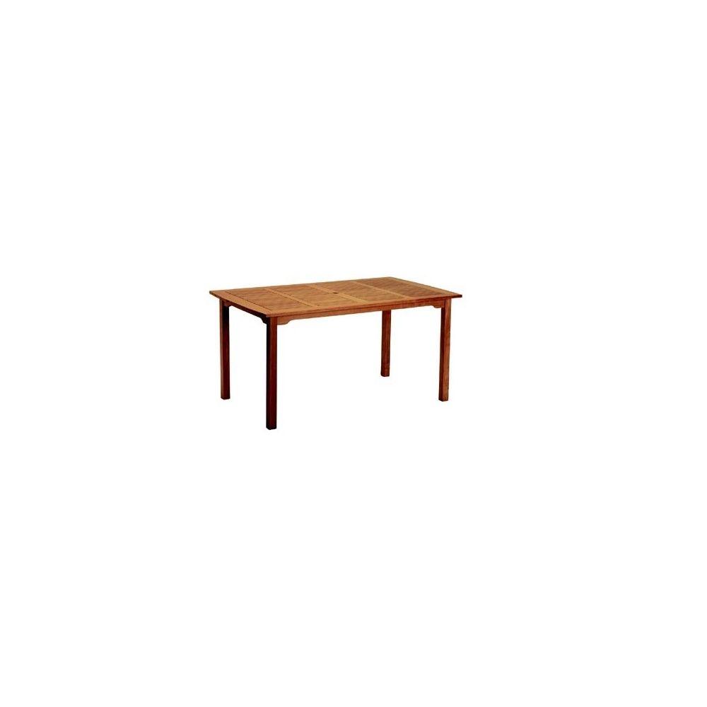 table rectangulaire en eucalyptus fsc lake deer plantes et jardins. Black Bedroom Furniture Sets. Home Design Ideas