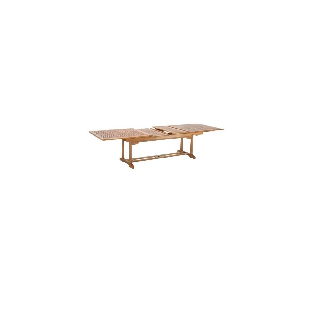 Table rallonges en bois exotique lake sylva plantes et for Table en bois exotique