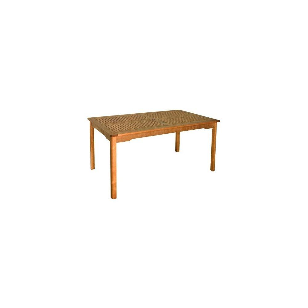Table carr e en bois exotique lake sylva plantes et jardins - Table bois carree ...