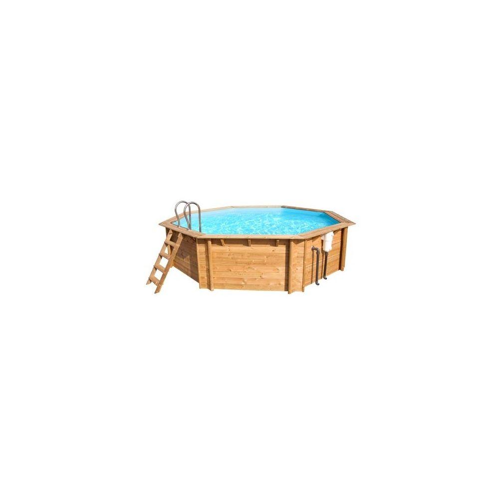 piscine bois octo weva cerland x double margelle pin plantes et jardins. Black Bedroom Furniture Sets. Home Design Ideas