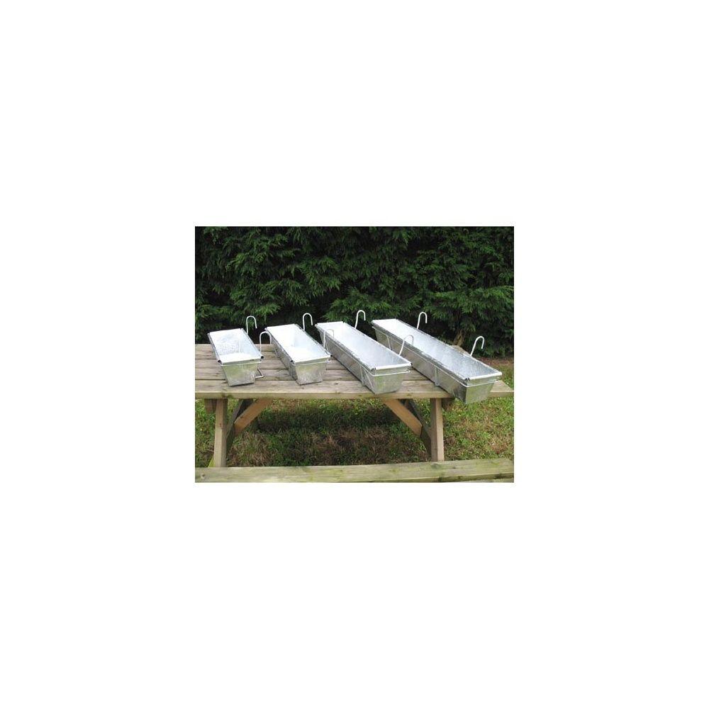 Balconni re en zinc 50 cm le zinc au jardin plantes et for Balconniere hiver
