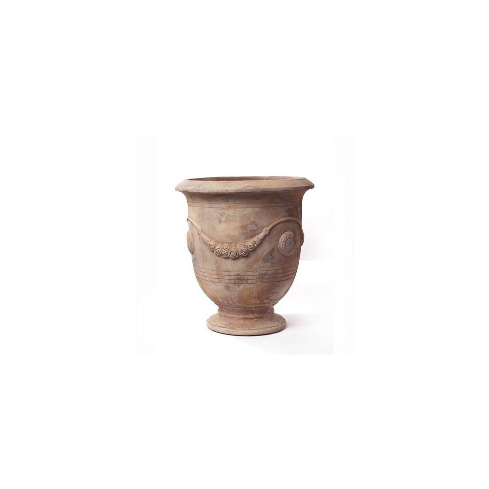 vase rond feston terre cuite collection antique d 64 x h 68 cm plantes et jardins. Black Bedroom Furniture Sets. Home Design Ideas