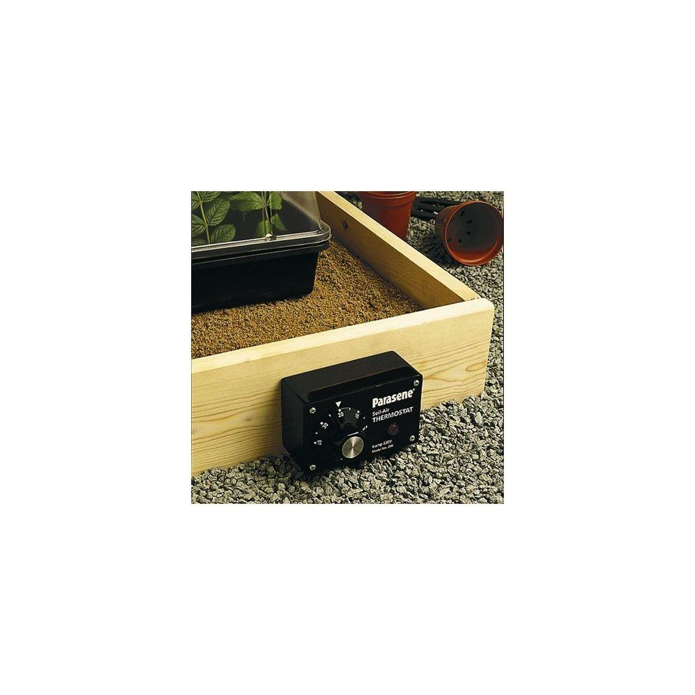 thermostat pour c ble chauffant pour serre parasene plantes et jardins. Black Bedroom Furniture Sets. Home Design Ideas