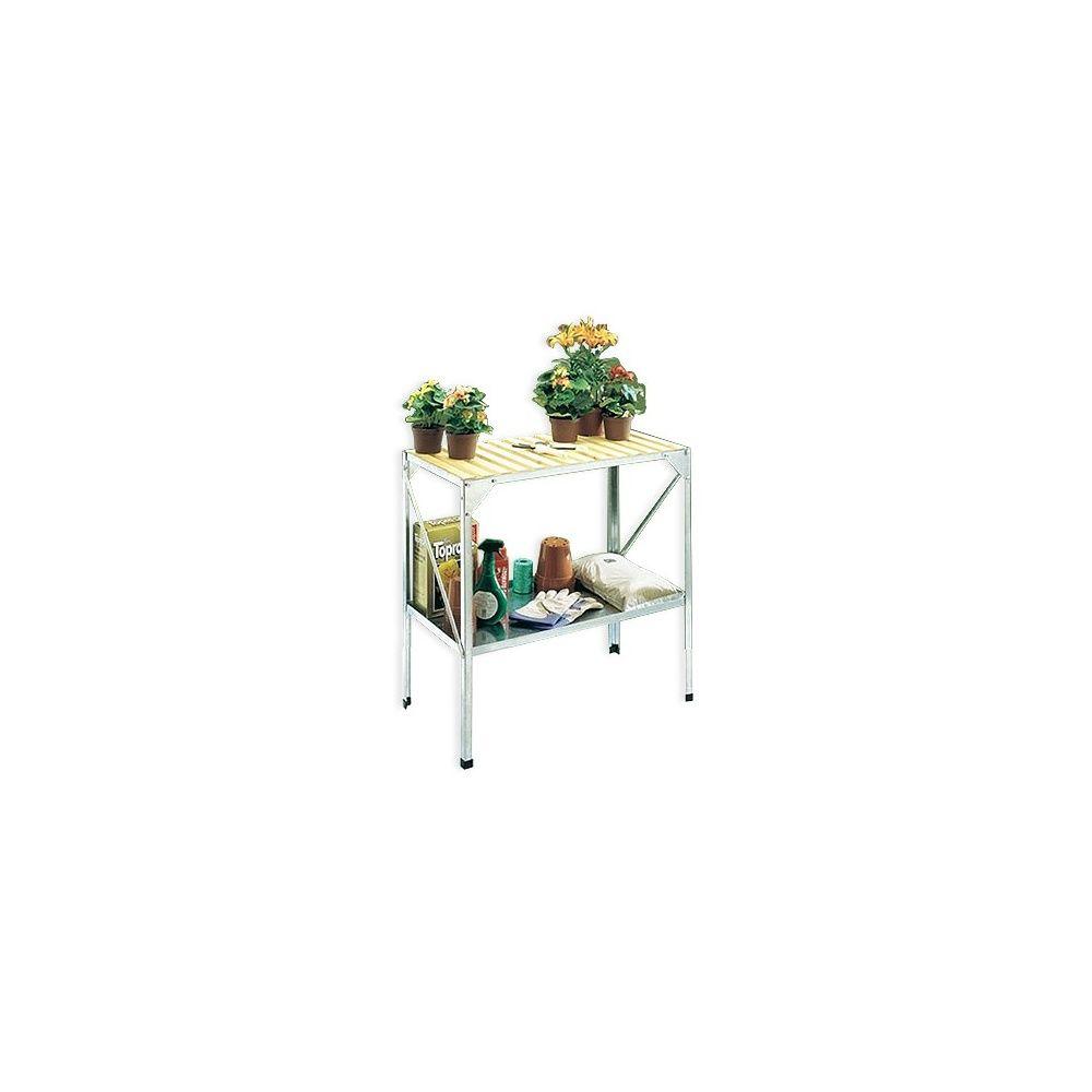 Table jardin gamm vert: table de culture pour serre en acier galva ...
