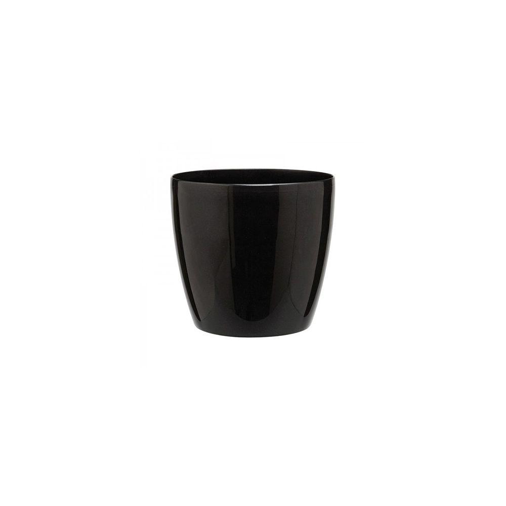 option cache pot brussels noir diam tre 22 cm plantes et jardins. Black Bedroom Furniture Sets. Home Design Ideas