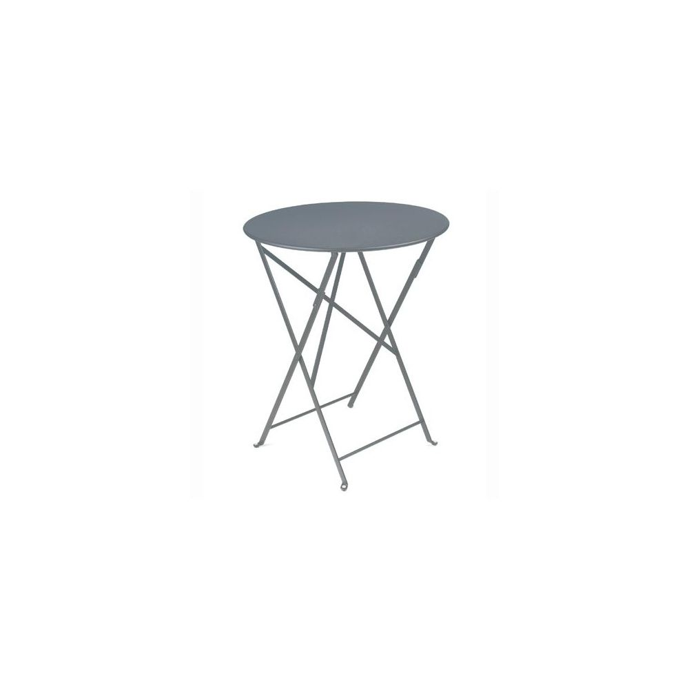 Table pliante D60cm Bistro - Gris Orage - Fermob