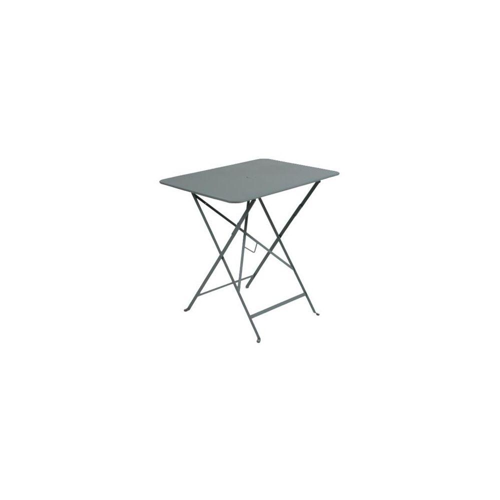table pliante rectangulaire 77 x 57cm bistro gris orage fermob plantes et jardins. Black Bedroom Furniture Sets. Home Design Ideas