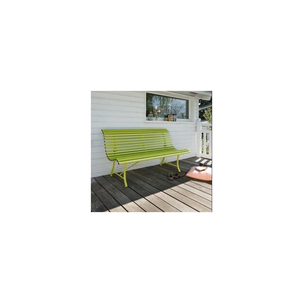 banc fermob louisiane acier l150 cm verveine plantes et jardins. Black Bedroom Furniture Sets. Home Design Ideas