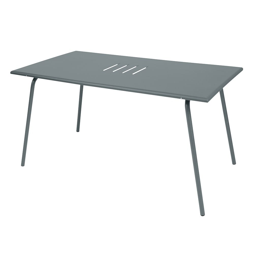 table de jardin fermob monceau acier l146 l80 cm gris. Black Bedroom Furniture Sets. Home Design Ideas